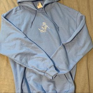 Baby Blue Graphic Hoodie